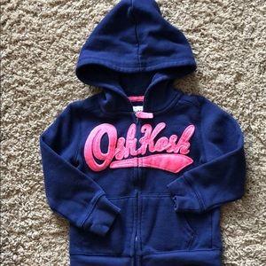 OshKosh B'Gosh zip up hooded sweatshirt